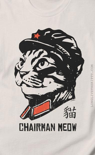 chairman meow light tshirt